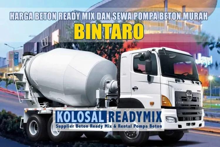 harga beton ready mix bintaro