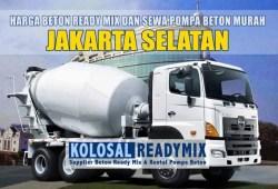 Harga Beton Ready Mix Jakarta Selatan Per M3 Terbaru 2020