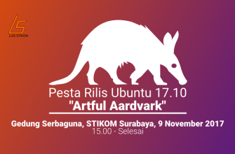 Keseruan Pesta Rilis Ubuntu 17.10 dan Roadshow LibreOffice Indonesia Mini Conference di LUG STIKOM