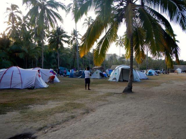 Camping in Cabo San Juan del Guia