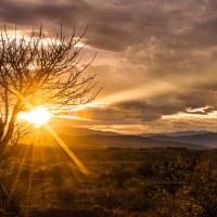 Sonnenuntergang Tactacoa-Wüste