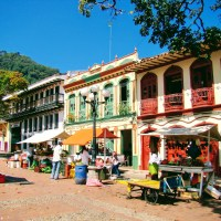 Bunte Häuser Jericó Antioquia