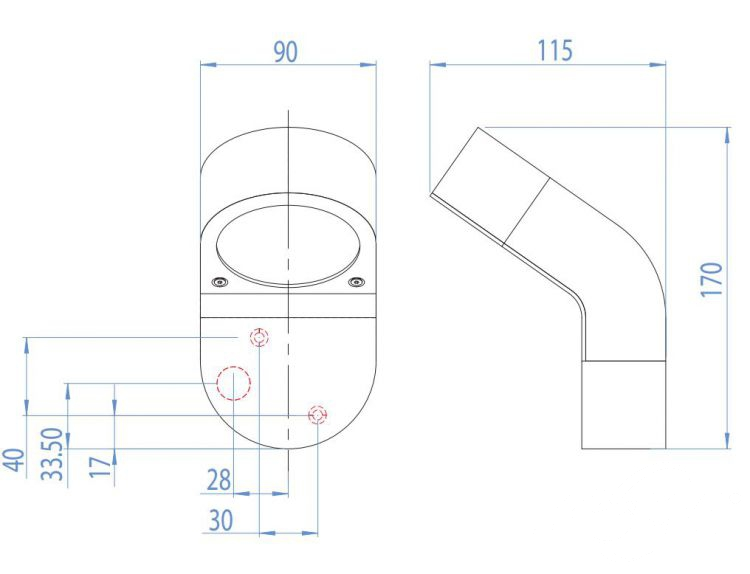 Soprano kinkiet zewnętrzny 1x9W GX53 230V czarny, indeks