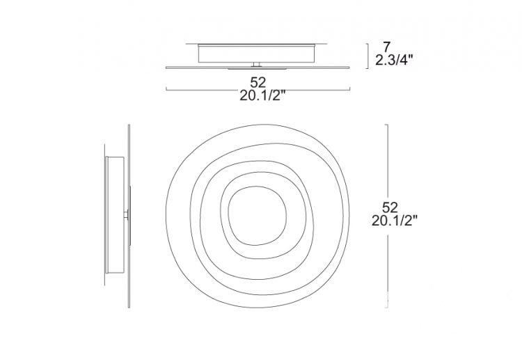 Beta kinkiet/plafon 1x22W 2GX13 35cm 0504240095232, indeks