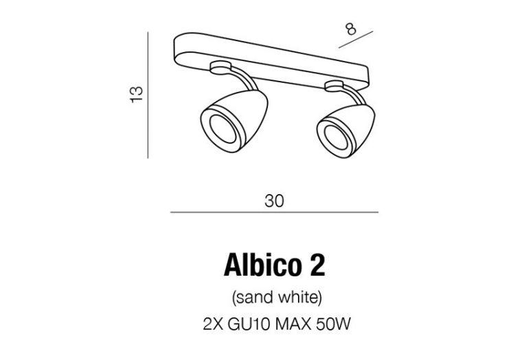 Albico 2 reflektor/spot 2x50W GU10 230V biały, indeks