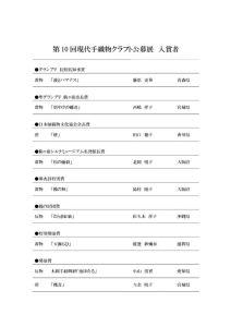 第10回現代手織物クラフト公募展入賞者(改)のサムネイル