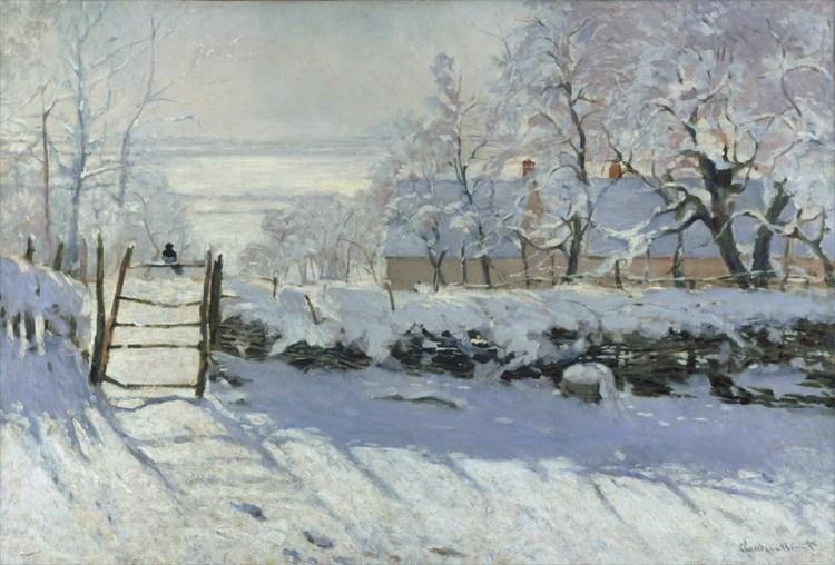 クロード・モネ「かささぎ」1868年