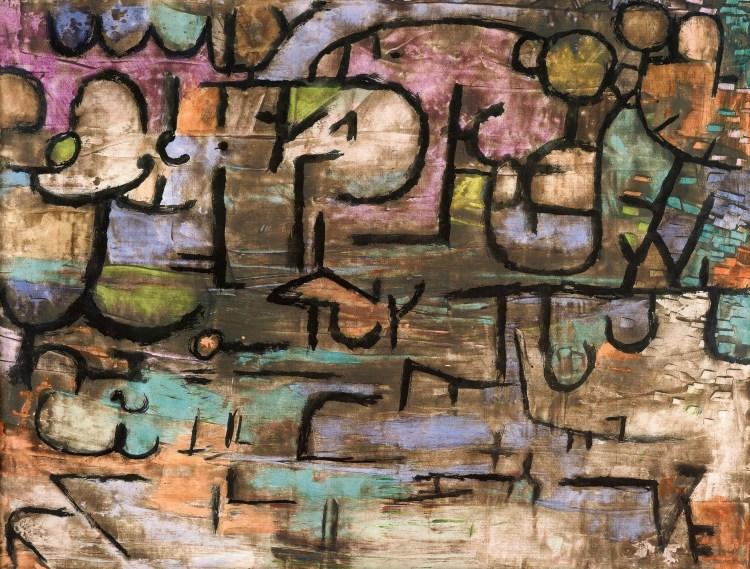 パウル・クレの-作品「洪水の後に」1936年