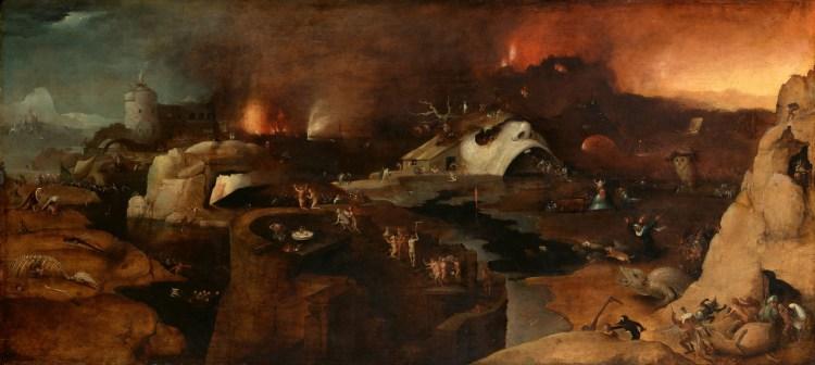 ヒエロニムス・ボスの「キリストの地獄への降下」という作品画像