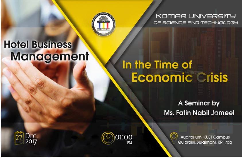Hotel business management in the time of economic crisis