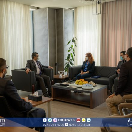 A delegation from Istinye University and Liv International Hospital visited Komar University of Science and Technology
