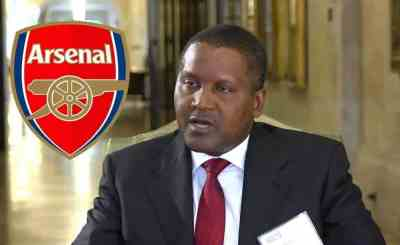 I WILL FIRE WENGER IF I BUY ARSENAL DANGOTE.