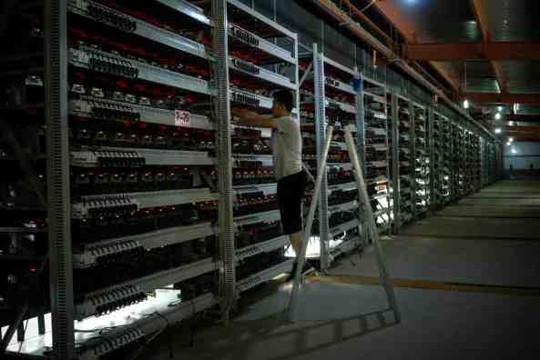 China's Hinterlands, Workers Mine Bitcoin