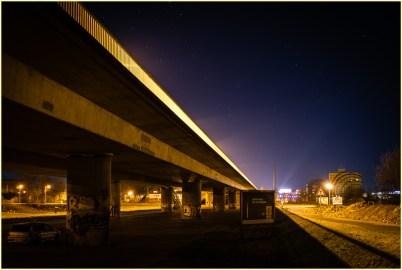 "Sven Jankowski ""Hochbrücke bei Nacht V"""