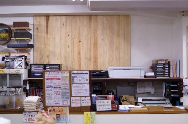 カウンター上の木材設置