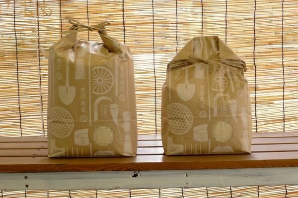ギフト用オリジナル米袋 5kgと3kg