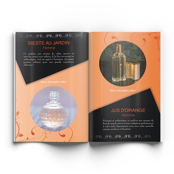 Brochure parfumeur
