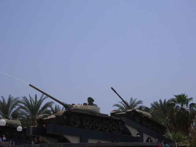 戦車の噴水