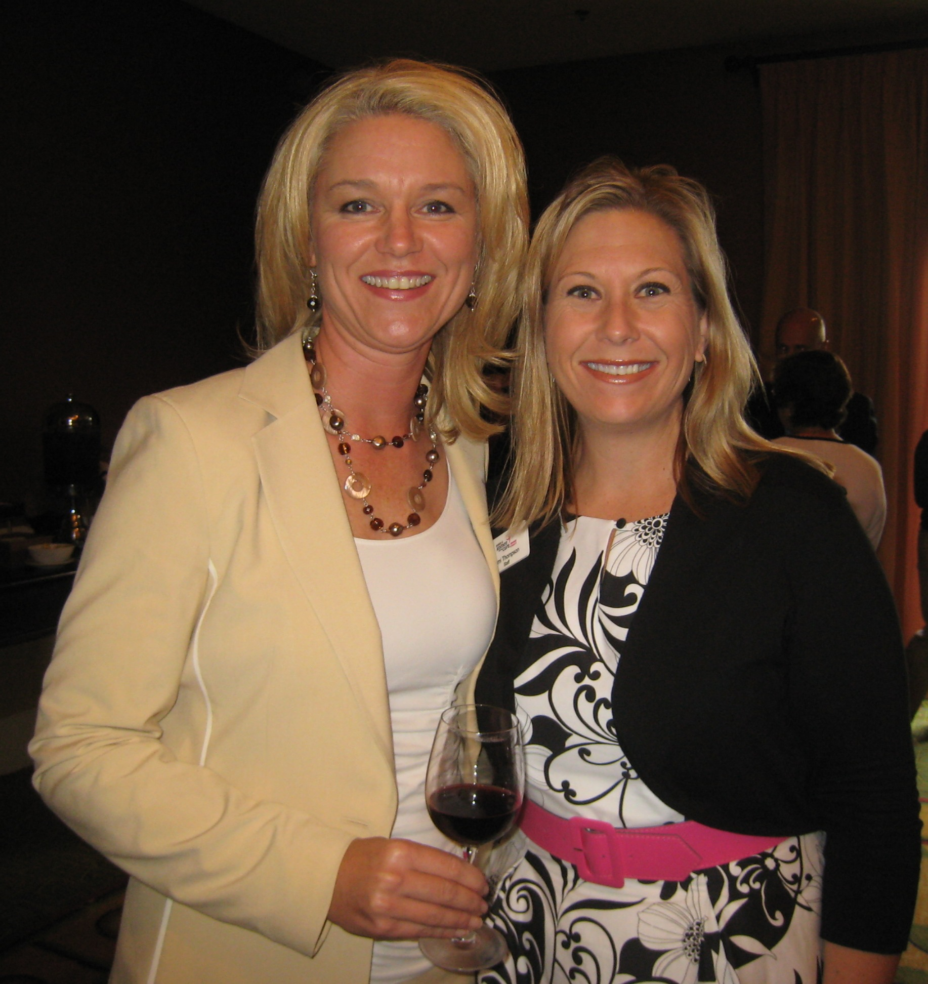 Cindy Thomsen (Left) with Tamara Thompson, Komen OC's Director of Development