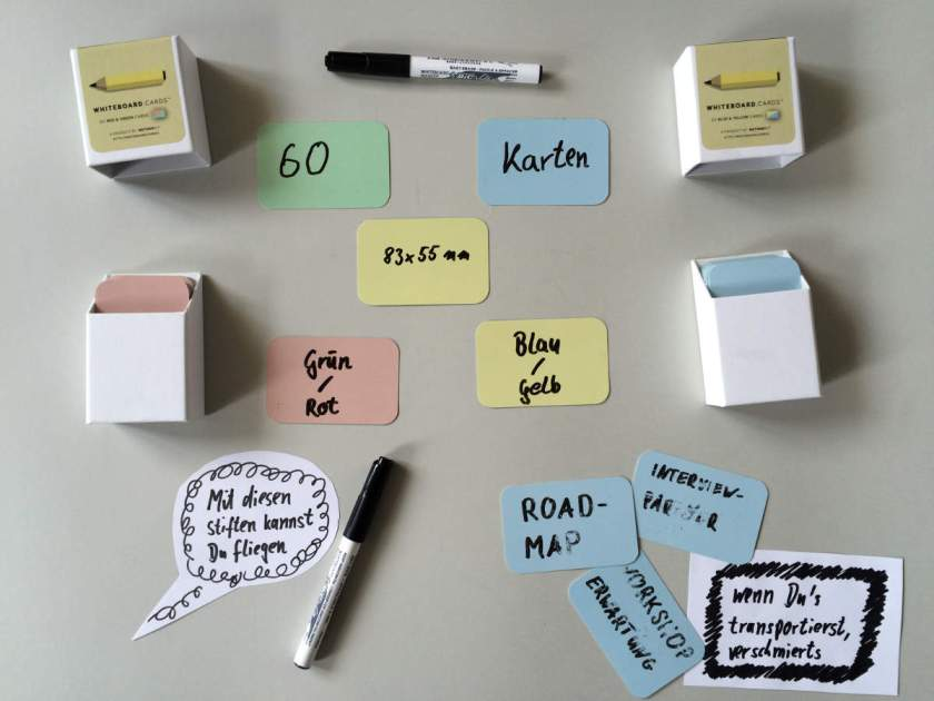 Post-It-Alternative Whiteboard Cards