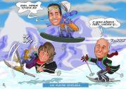 Kar-tatilindeki-aile-karikaturu