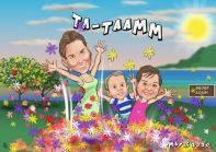 Murat -aile-karikaturu