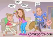 baba-bebek-ve-anne-ev-hali-konulu-dogum-gunu-hediyesi-karikaturu
