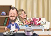 Koca-mutfakta- hanim-yatakta- karikaturu