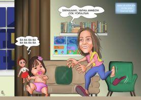 Anne-ve-kizi-yaramazlik-karikaturu