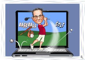 baseball-golf-temali-karikatur