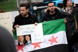 Kundgebung: Syrische Oppositionelle fordern Konzertabsage [mit Videobeitrag]