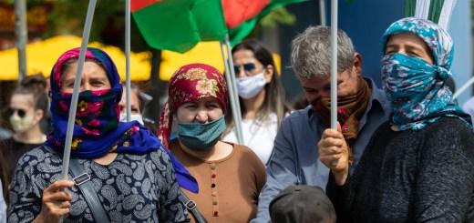 Kundgebung gegen die türkischen Militäraktionen in Südkurdistan