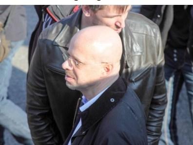 Andreas Kalbitz (ex-AfD) bei einer Kandel-Demo