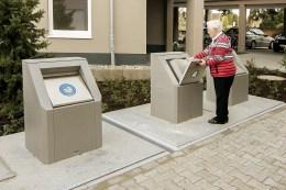 Müllentsorgung: Der Mülleinwurf ist leicht zugänglich.