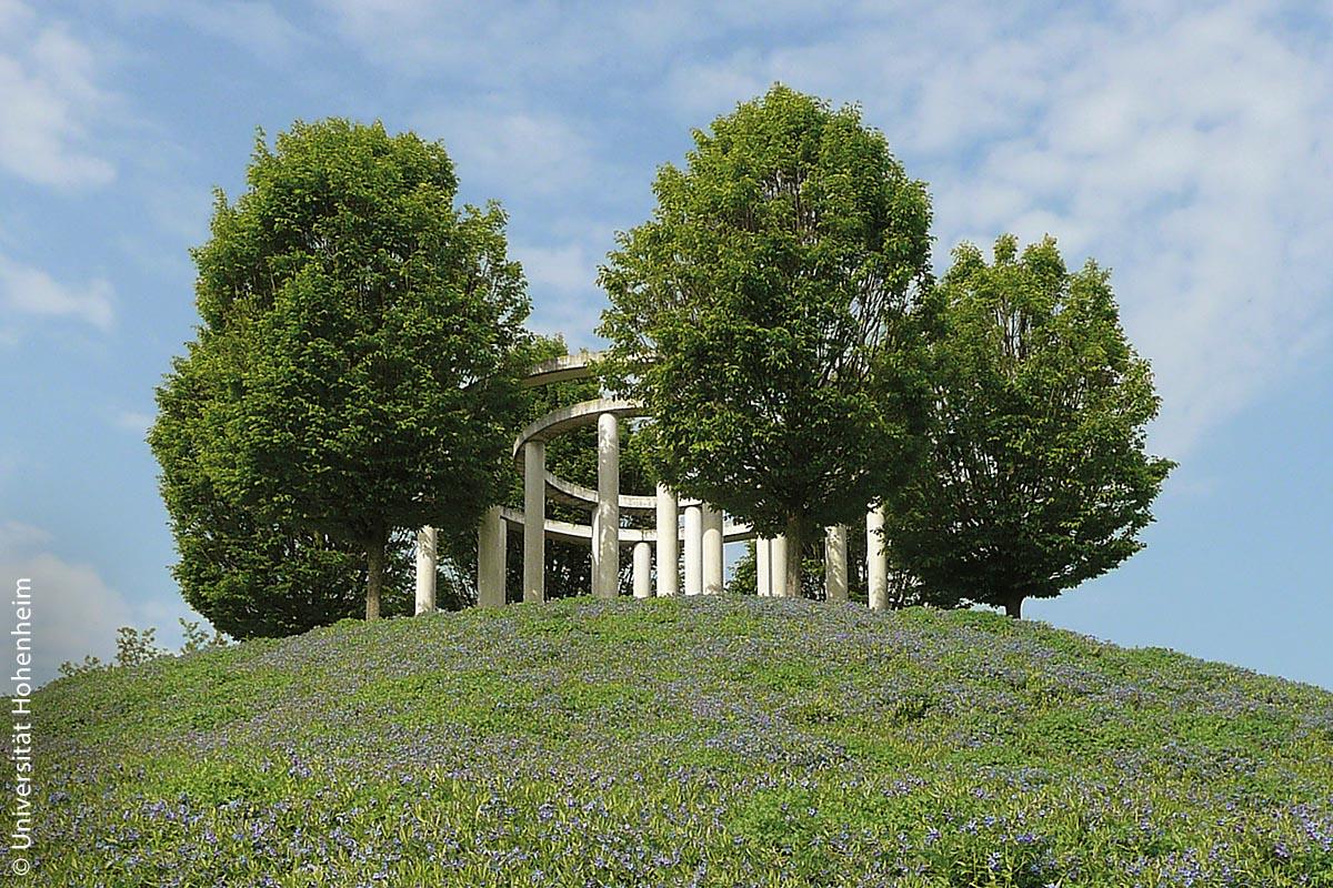 Der Monopteros in den Hohenheimer Gärten der Universität Hohenheim wurde 2001 erbaut.