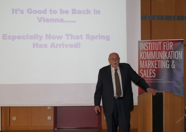 Don E. Schultz visiting FHWien for the 5th time