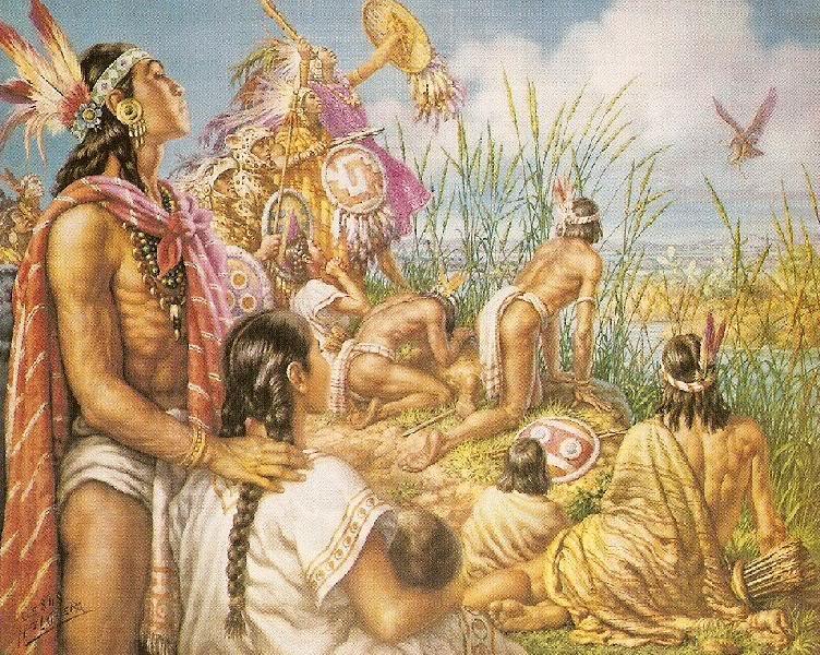 La fundación de Mexico-Tenochtitlan