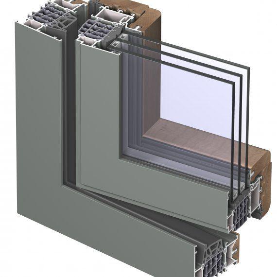 открывающееся окно из алюминия