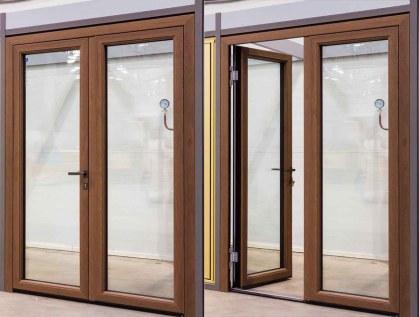 открытые-закртые алюмо-деревянные двери