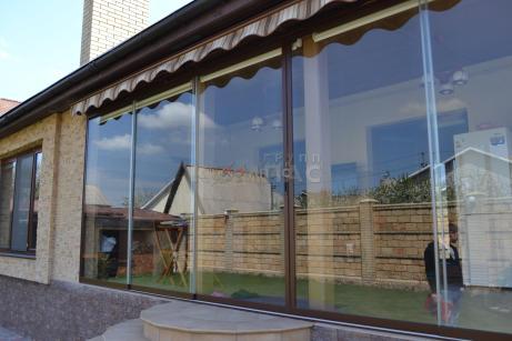 Стеклянные раздвижные двери, Стеклянная раздвижная двери Киев