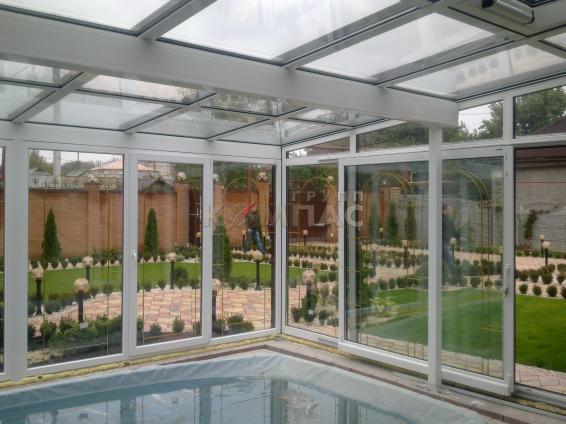проекты зимнего сада с бассейном