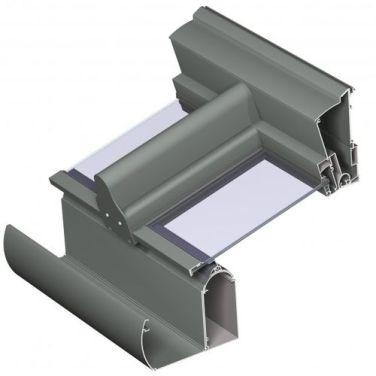 вид алюминиевого профиля PR100
