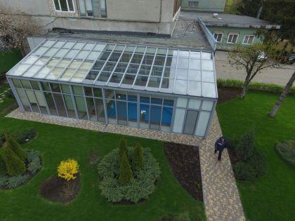 фото зимний сад с квадрокоптера