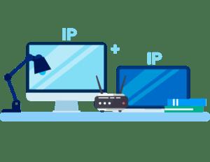 Ретранслятор + IP-адрес