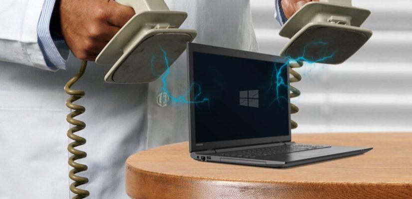 ноутбук не включается, нужна помощь ...