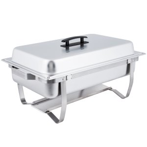 Economy 8 Qt. Full Size Stainless Steel Chafer with Folding Frame