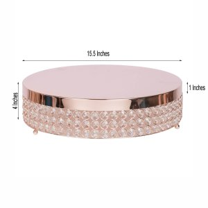 15″ Crystal Beaded Metal Cake Stand