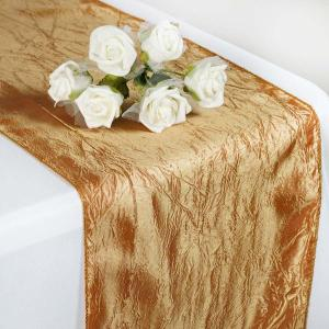 12″x108″ Crinkle Crushed Taffeta Table Runner