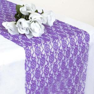 12″ x 108″ Floral Lace Table Runner