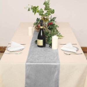12″ x 107″ Premium Velvet Table Runner
